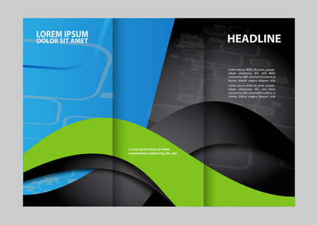 tri fold business brochure template Illustration