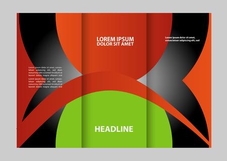 publisher: Vector modern tri-fold brochure design template Illustration