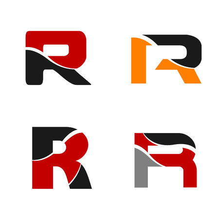 Unusual r Letters For Your Design Graphic Design Editable Ilustração