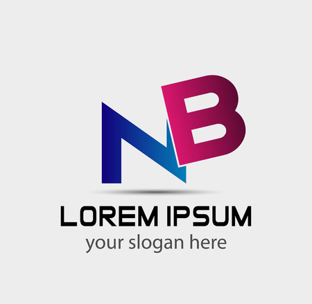nb: Letter BN linked company logo Illustration