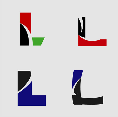 Alphabetical Logo Design Concepts Letter L