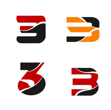 Number three 3 elements logo design template symbol royalty free number three 3 elements logo design template symbol stock vector 72855823 maxwellsz