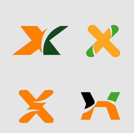 Alphabetical Logo Design Concepts Letter x Illustration