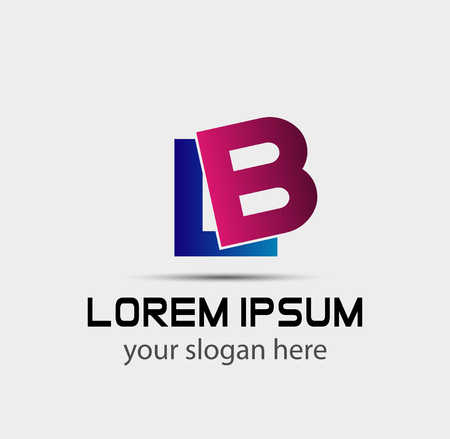 Letter B and L logo vector Logó