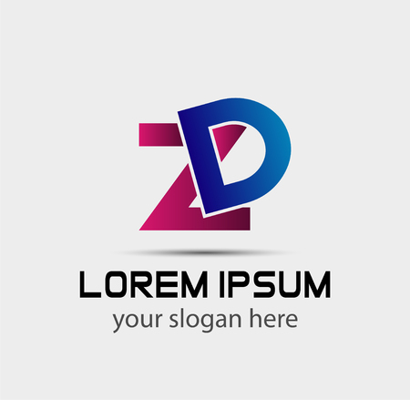 Letter DZ linked company logo Ilustrace