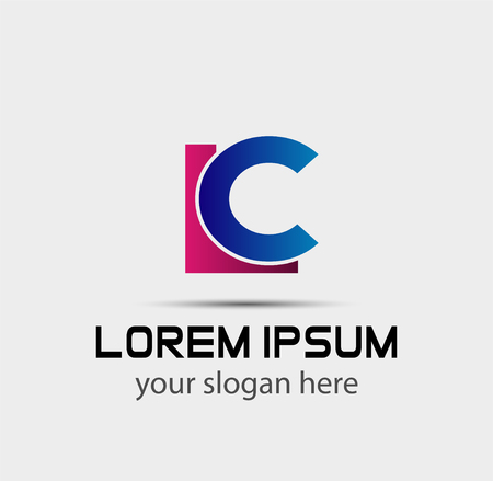 Letter L and C logo vector Logó