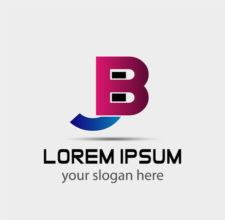 BJ logo company letter-linked group Logó