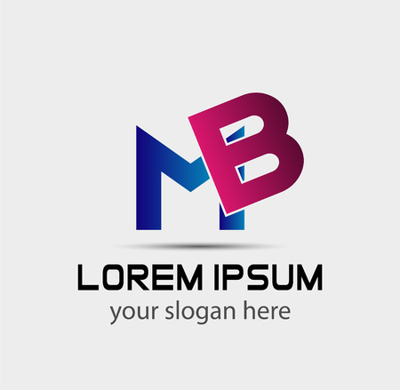 mb: Letter B and M logo vector Illustration
