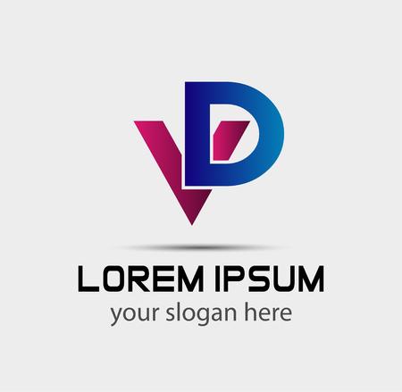 eg: Letter V and D logo