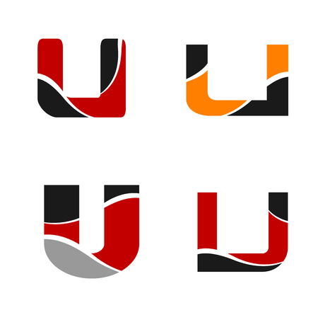 Set of Letter U logo Illustration