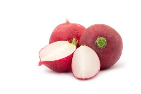 radish isolated on white background photo