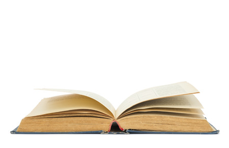 graduation background: Open book isolated on white background