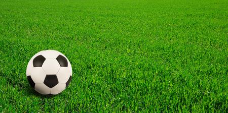 soccer pitch: soccer ball on soccer field
