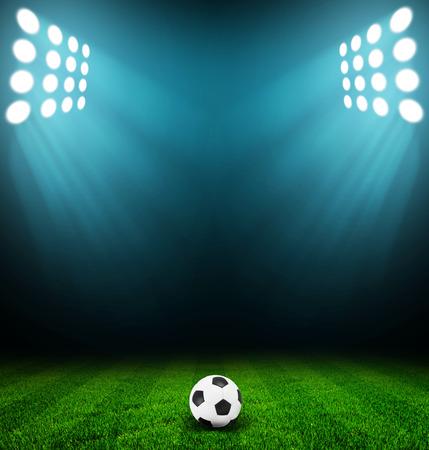 Licht Stadion Standard-Bild - 30058469