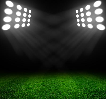 Stadion Lichter in der Nacht und Stadion Standard-Bild - 30058470