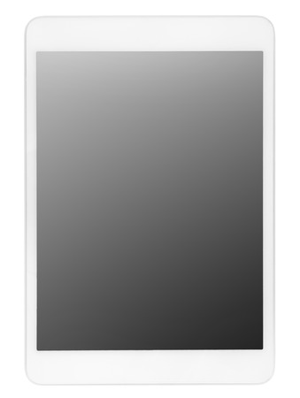 computer isolated: Tablet computer isolated on white