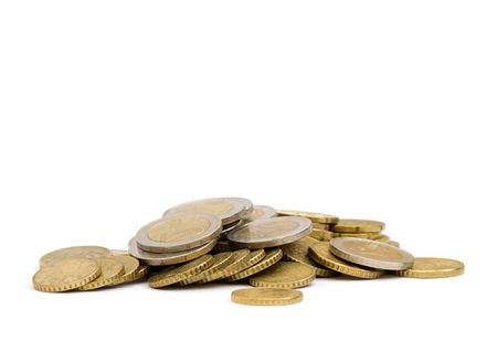 coins isolated on white Standard-Bild