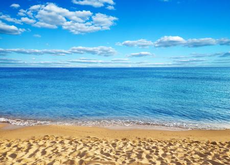 sea beach blue sky sand sun
