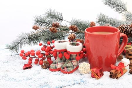Hot winter tea photo