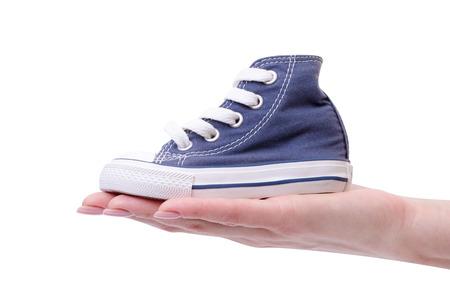 vintage shoes on white background photo