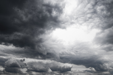 stormy clouds: Dark storm clouds before rain Stock Photo