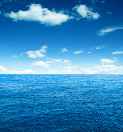 blue sea: perfect sky and ocean