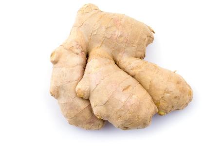 fresh ginger: fresh ginger on white background
