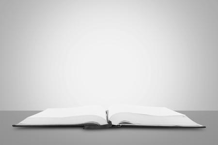 Open book isolated on blue background Zdjęcie Seryjne