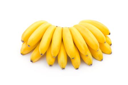 banane: Bananes isolés sur fond blanc Banque d'images