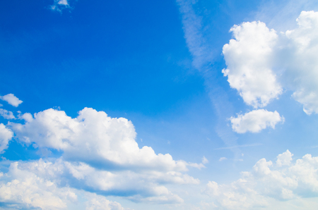 clouds sky: The blue sky with clouds, background