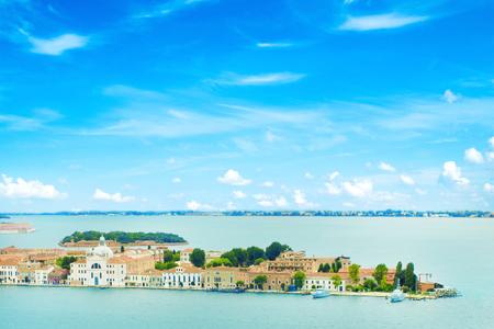 rialto: Venice Grand canal with gondolas and Rialto Bridge, Italy in summer bright day Stock Photo