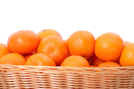 reticulata: Mandarine on white