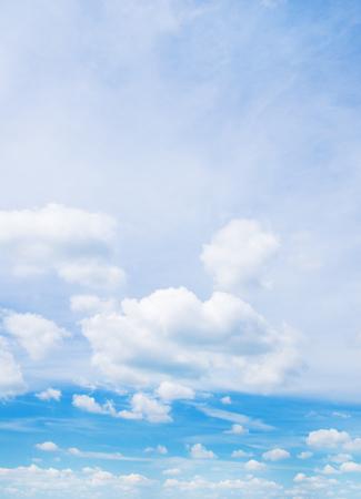 eather: blue sky with cloud closeup