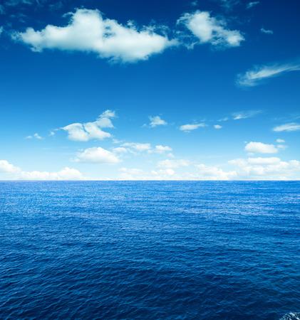 seascape: Cloudy sky and sea. Sea summer shot Stock Photo