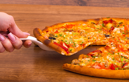 supreme: Supreme Pizza Stock Photo
