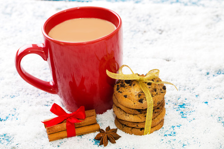 cofe: Christmas cookies and coffee Stock Photo