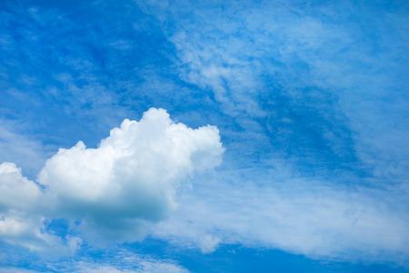 cumuli: white fluffy clouds in the blue sky