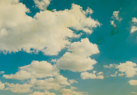 clouds sky: Retro sky and clouds background.