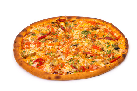 Supreme Pizza on white
