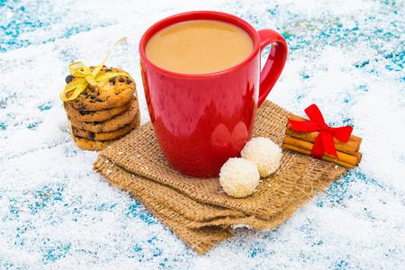 Hot winter tea Stock Photo