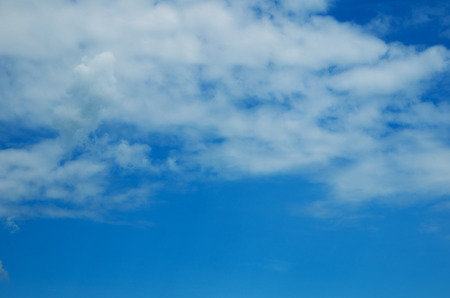 nebulosity: white fluffy clouds in the blue sky
