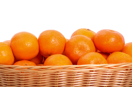 Mandarine on white 版權商用圖片 - 68372398