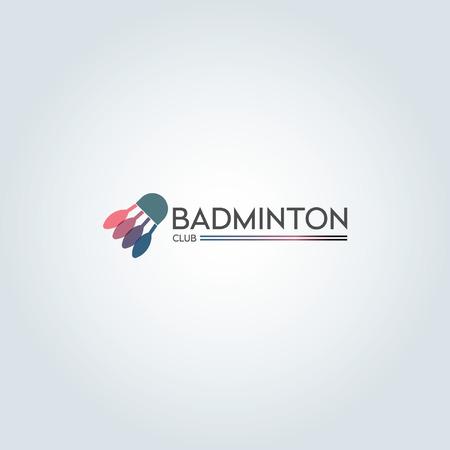 Minimalist flat color badminton icon design Ilustração