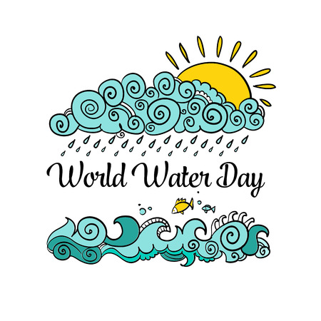 Postcard, poster or banner to the World Water Day