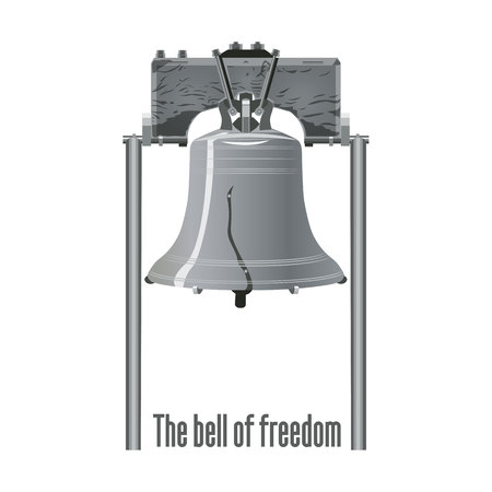liberty bell. Isolated Illustration. For Banners,postcards or posters Illustration