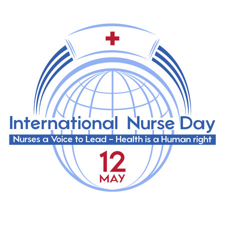 International Nurse Day- a postcard, poster or banner for the holiday. Logo of the thematic event.