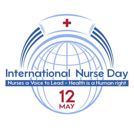 国際看護師の日 - 休日のためのはがき、ポスターやバナー。テーマイベントのロゴ。