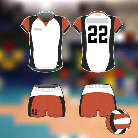 バレーボールのためのプロスポーツユニフォーム 写真素材 - 99728217