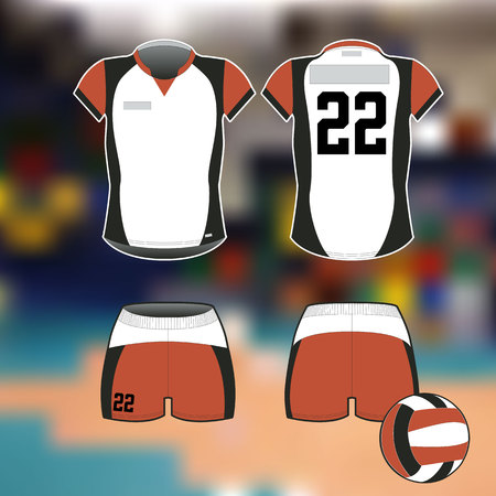 Professional sports uniform for volleyball