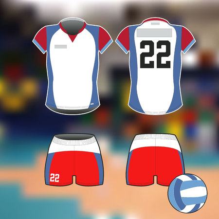 Professional sports form for volleyball. Isolated image. For posters, banners and other.